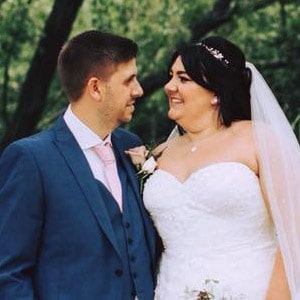 Katy and Kevin Sturge married at Marleybrook House